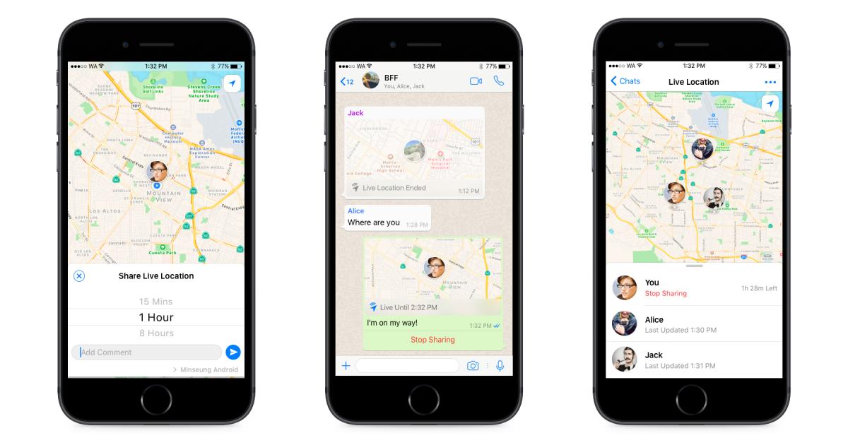 WhatsApp live location illustration
