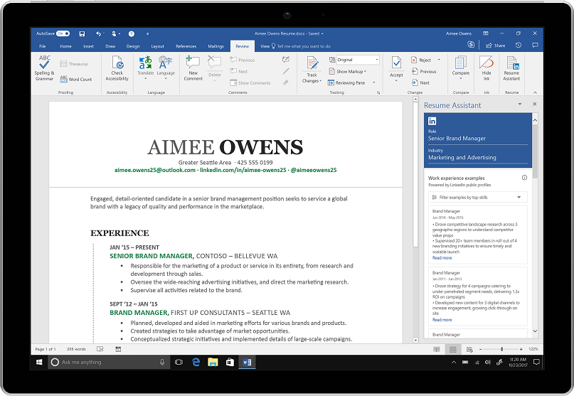 Microsoft integrates LinkedIn with Word to help