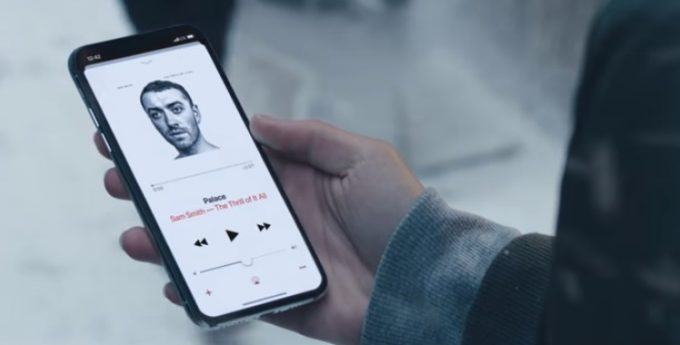 iphone x showing palace apple christmas advert